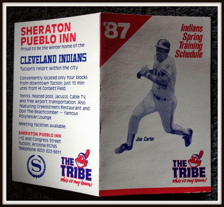 1987 CLEVELAND INDIANS SHERATON PUEBLO INN SPRING BASEBALL POCKET SCHEDULE #Pocket #Schedule