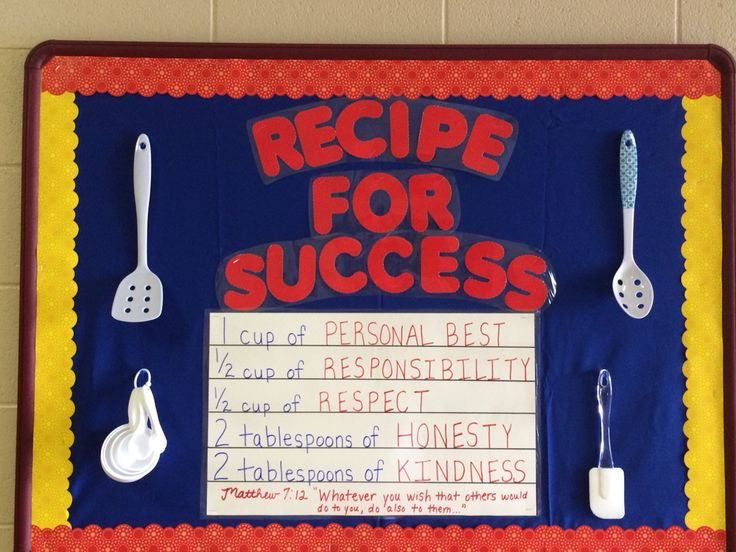 My Version Of The Recipe For Success Bulletin Board