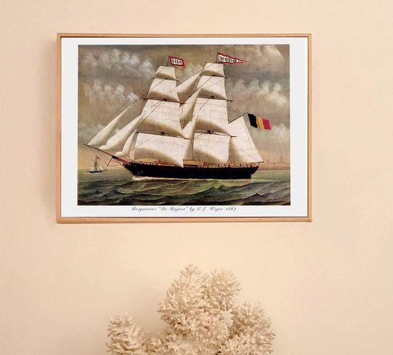 Brigantine De Ruyter 1862  illustration marine