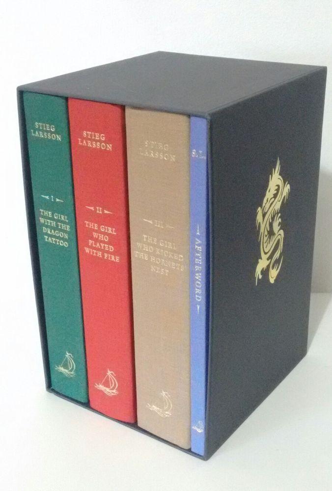 Stieg Larsson Millennium Trilogy Hardback Books Deluxe Box Set Dragon Tattoo