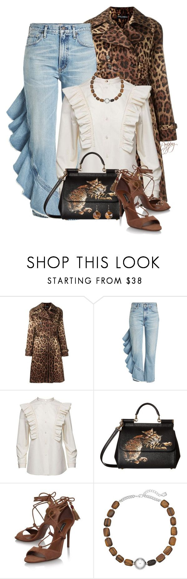 """""""Fall Trend"""" by bainbridgegal ❤ liked on Polyvore featuring Dolce&Gabbana, Citizens of Humanity, Marc Jacobs and Chaps"""