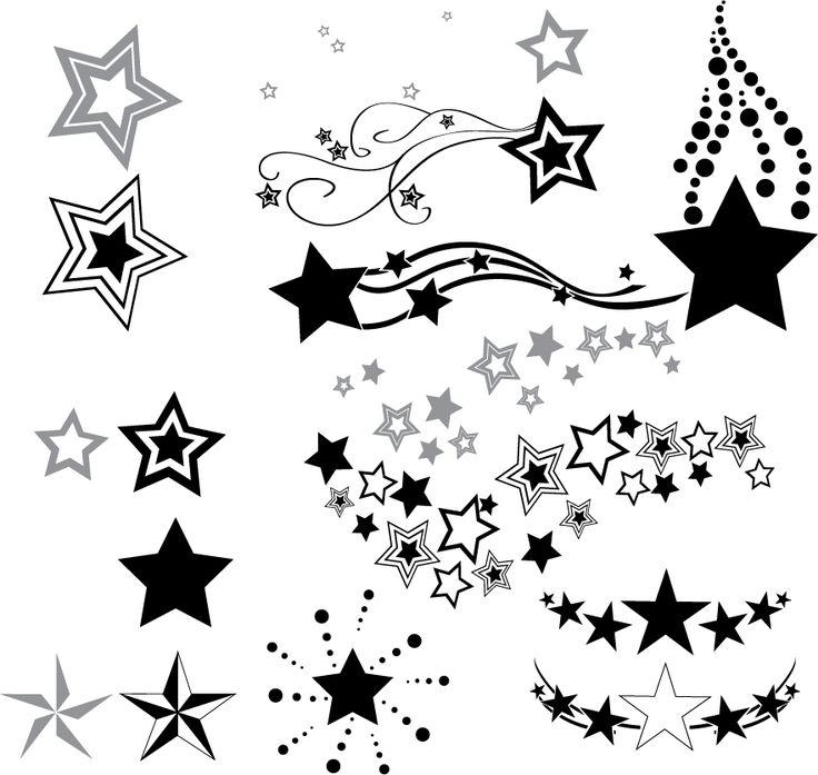 Download Free Outline Star And Moon Tattoo Design | Fresh 2017 Tattoos Ideas to use and take to your artist.