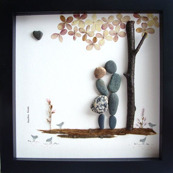Cool Wedding Gifts For Young Couples: Unique WEDDING Gift-Customized Wedding Gift-Pebble Art