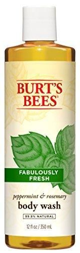 Burt's Bees Peppermint and Rosemary Body Wash 12 Fluid Ounces