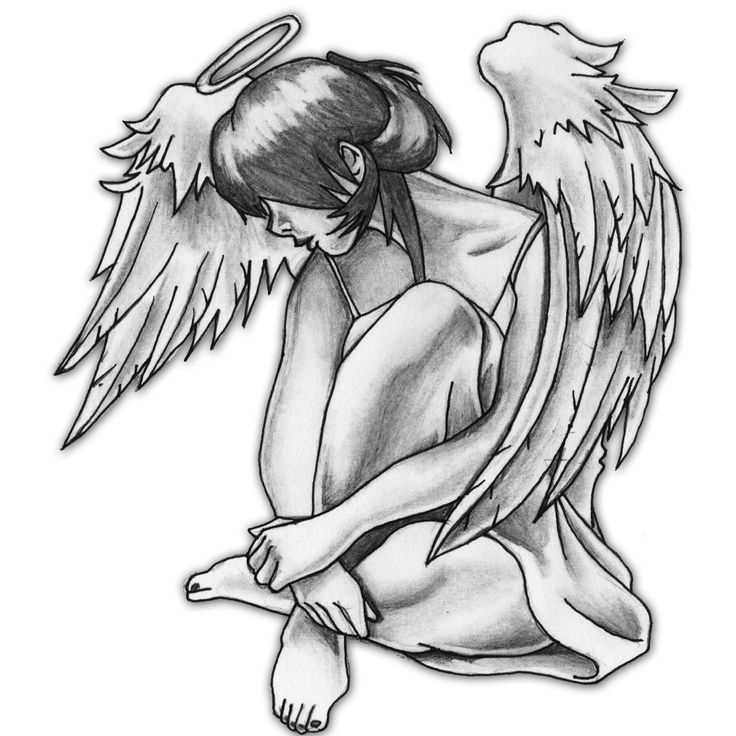 modern contemporary angel tattoos