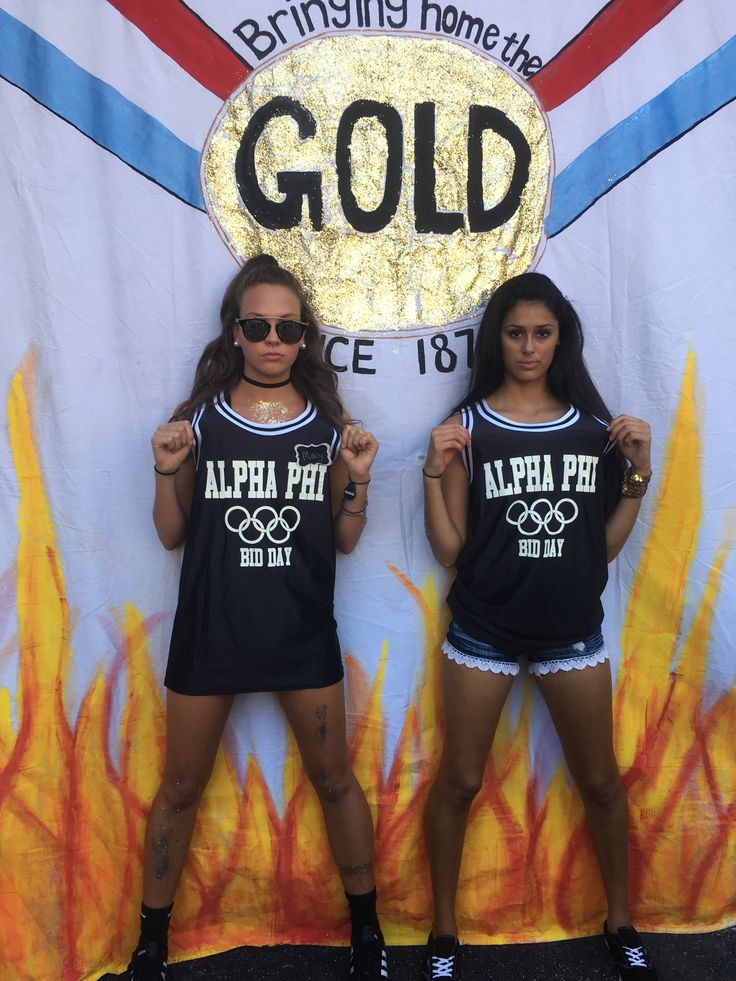 Olympics bid day theme...alpha phi sorority