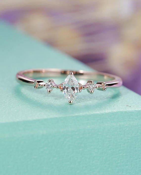 Pear formed engagement ring rose gold ladies Moonstone London Blue Topaz Opal Marquise reduce Diamond Marriage ceremony Jewellery Anniversary items for her