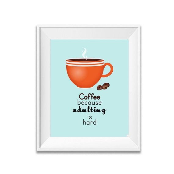 Kitchen Wall Décor Coffee Poster Kitchen Art by eDesignSolutions