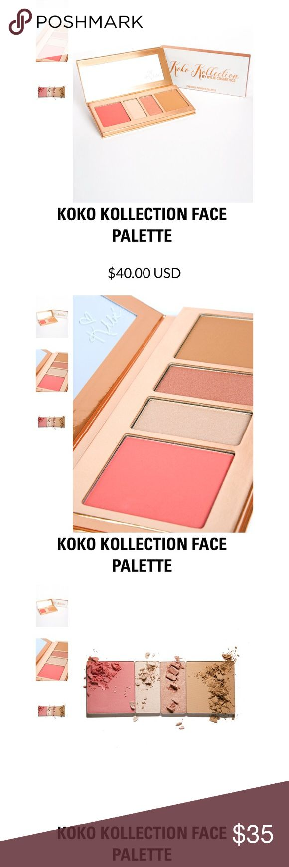 Koko kollection face palette Bought off the Kylie website but I don't use blush. Brand new. These colors are actually very beautiful. Kylie Cosmetics Makeup Blush