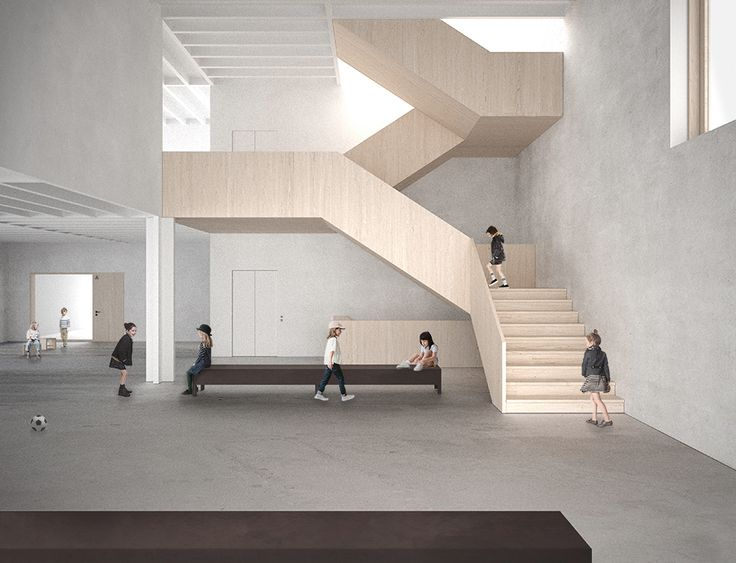 Elementary School in Fribourg, Switzerland - Competition, Awarded Project