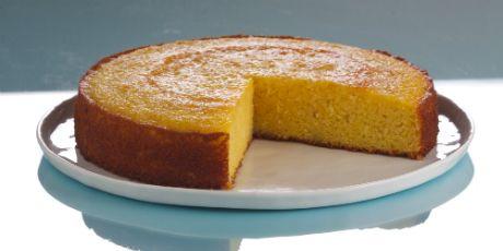 Torta de Flourless Blood jarabe de naranja