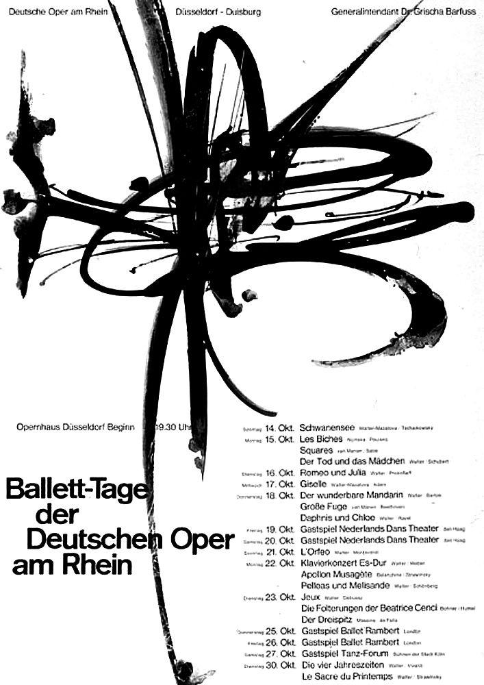 1965, um Barth (Ruodi, CH) Ballett-Tage der Deutschen Oper am Rhein Düsseldorf Plakat A0 | Flickr - Photo Sharing!