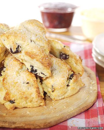 Cherry Scones courtesy Martha Stewart.  Add bittersweet chocolate chunks