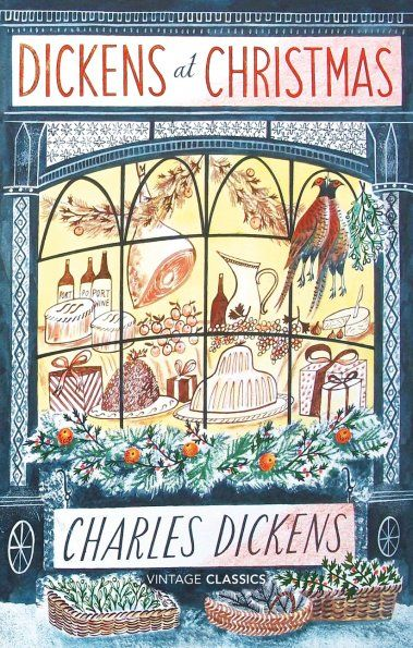 "Front cover illustration by Emily Sutton for ""Dickens at Christmas"""