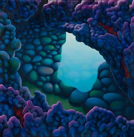Michael Smither, Lava Flow Cave, 2004