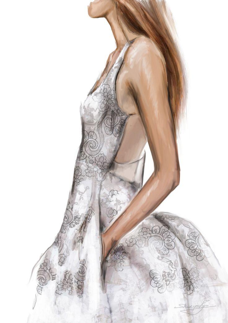 #fashion illustrations #fashion #moda #elina #sheripova #art #Dior #fashion show