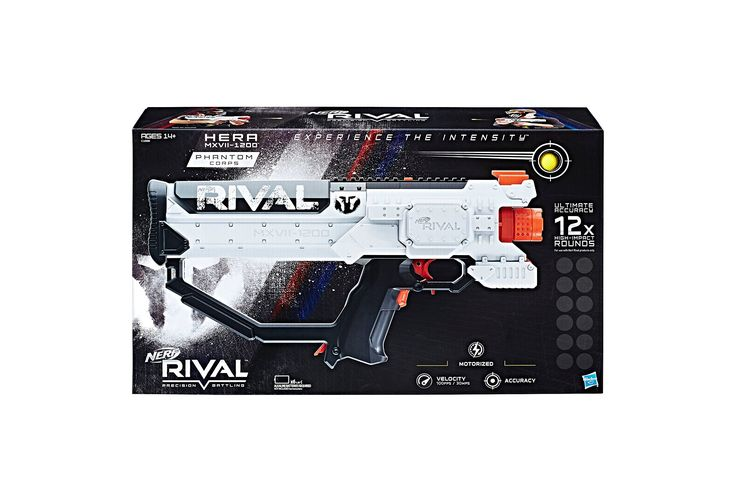 NERF Rival Phantom Corps Hera MXVII-1200. Includes: tactical pouch Carry your weapons anywhere! Be prepared to defend your team.