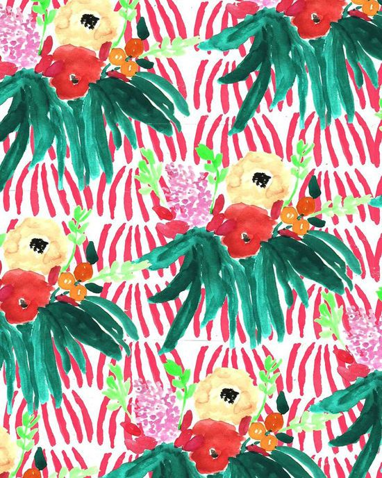 : Heart Prints, Floral Patterns, Prints Patterns, Tropical Patterns, Tropical Prints, Bouquets Iv, Broken Heart, Clovers Patterns, Patterns Bouquets