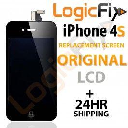 iPhone 4S Replacement Screen ( Original LCD )  Kit Includes: •1 Replacement iPhone 4S Replacement Screen ( Original LCD ) •1 Set of Replacement Adhesive