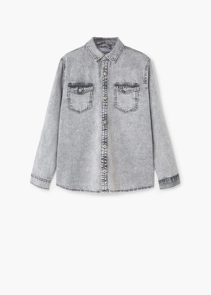 Denim blouse met borstzakken | MANGO KIDS
