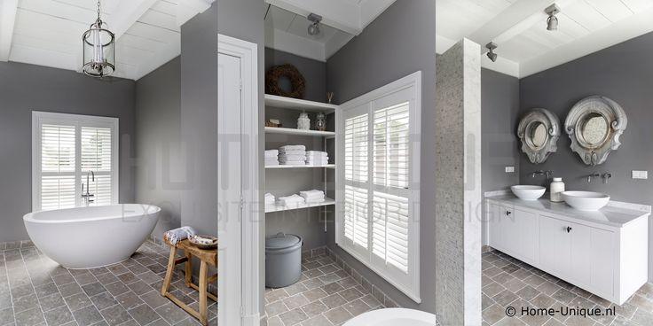 Badkamer Home-Unique Binnenhuisarchitectuur / Interior Design Landelijk wonen