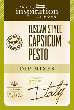 Tuscan Style Capsicum Pesto  Classic Italian flavours with the subtle warmth of red capsicum. This family friendly blend is great when added to pasta, chicken, bruschetta, dips and sauces.   www.stephaniebennett.yourinspirationathome.com.au www.facebook.com/stephaniebennett.yourinspirationthome.