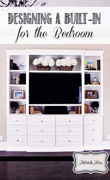 They wanted their built-in to look more like a piece of bedroom furniture and less like a media room cabinet. Well, they did it!
