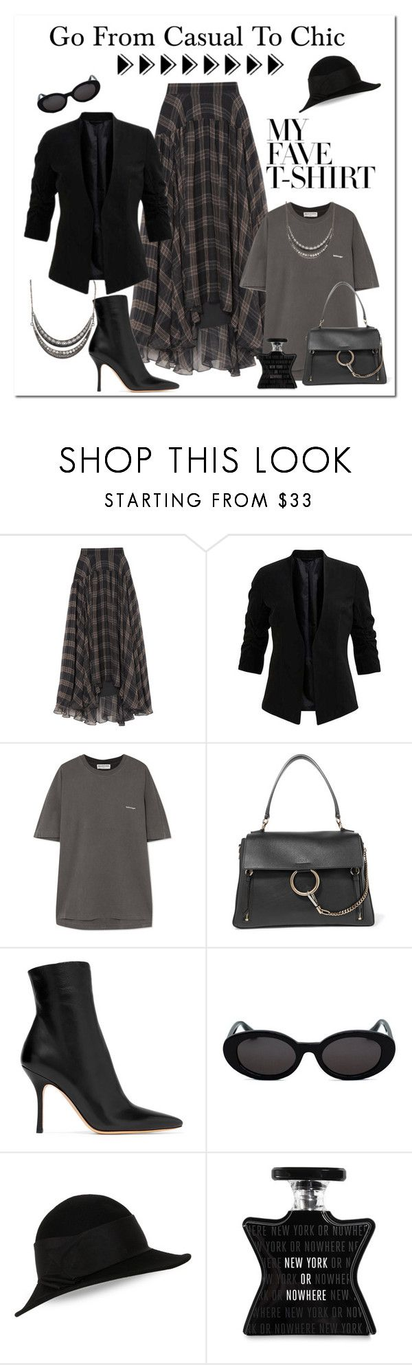 """""""Dress Up a T-Shirt"""" by victorianheaven ❤ liked on Polyvore featuring Brunello Cucinelli, Balenciaga, The Row, Kathy Jeanne, Bond No. 9 and MyFaveTshirt"""