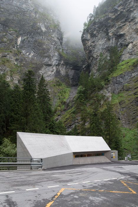 New Visitors Center in the Viamala Gorge by Iseppi-Kurath