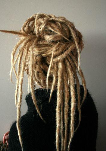 dreadlocksHairstyles, Long Hair, Blonde Dreads, Blondes Dreadlocks, Knots, Hair Style, Growing Hair, Blondes Dreads, Updo