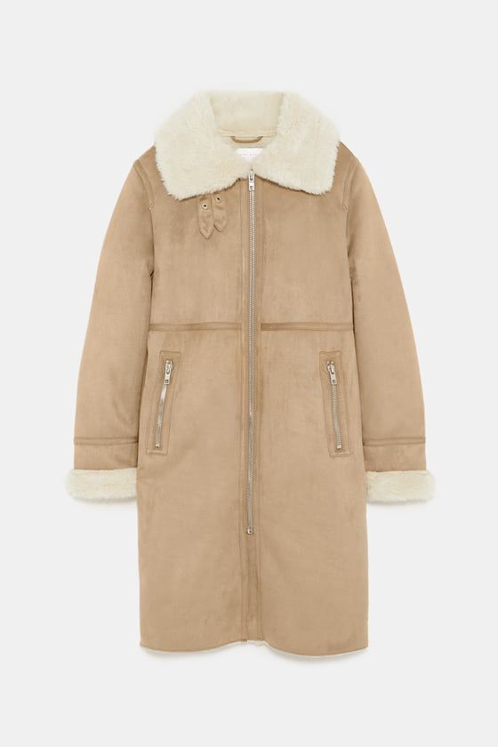 Camel Faux Suede Biker Coatt From Zara Fw Trends 2018 2019 Fall