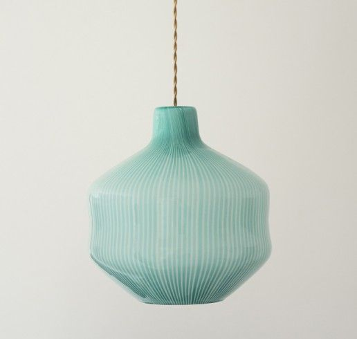 Blue glass ceiling lamp - Venini, 1950 - The Apartment