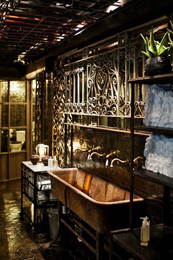17 best images about restaurant bathrooms on pinterest for Restaurant bathroom design