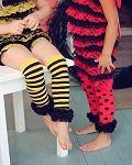 Bumble Bee Legwarmer | Halloween legwarmer | Ruffled Legging | Striped Legwarmer