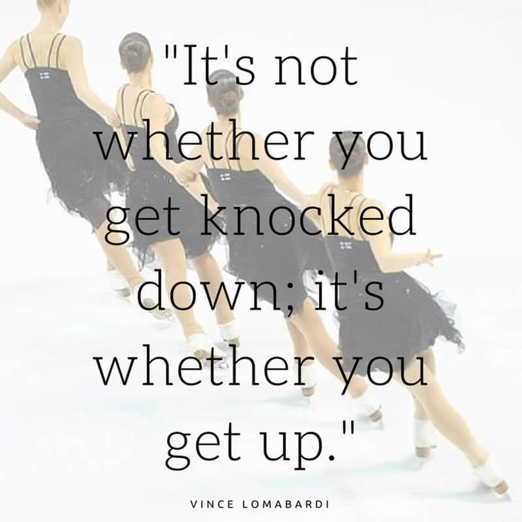 It's not wether you get knocked down
