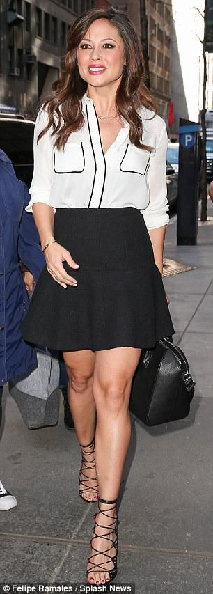 Vanessa Lachey effortless chic during her appearance on the Today show. Accessorized with ISHARYA Goddess Link Pendant.