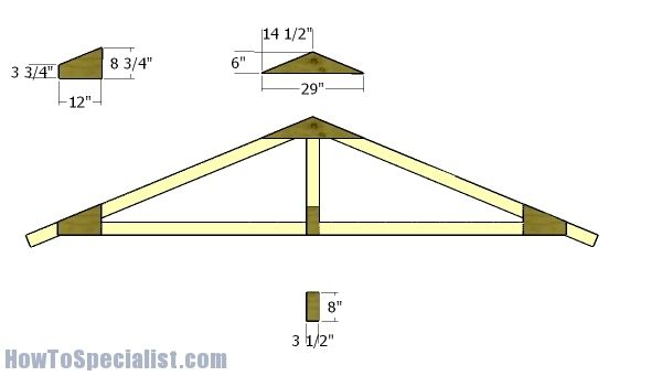 12 16 Garden Shed Roof Plans Shed Plans Roof Truss Design Diy Shed Plans