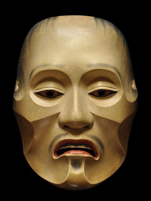 "Noh Mask ""Yase-otoko"" 能面「痩男」寺井一祐"