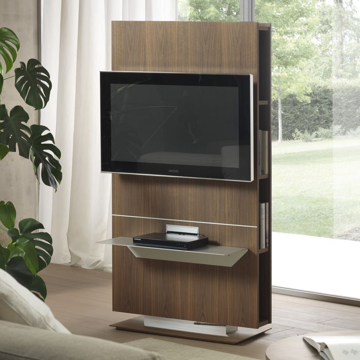 Porta Tv orientabile con libreria Lounge