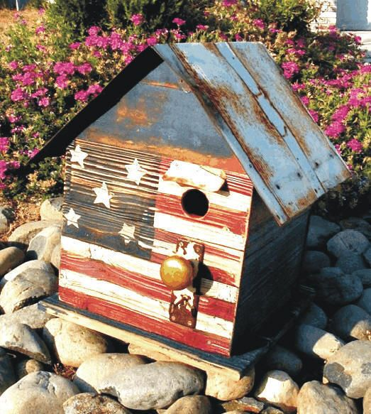 birdhouseFlags Birdhouses, Blue Birdhouses, July Birdhouses, Birdhouses Usaf, Patriots Birdhouses, Americana Birdhouses
