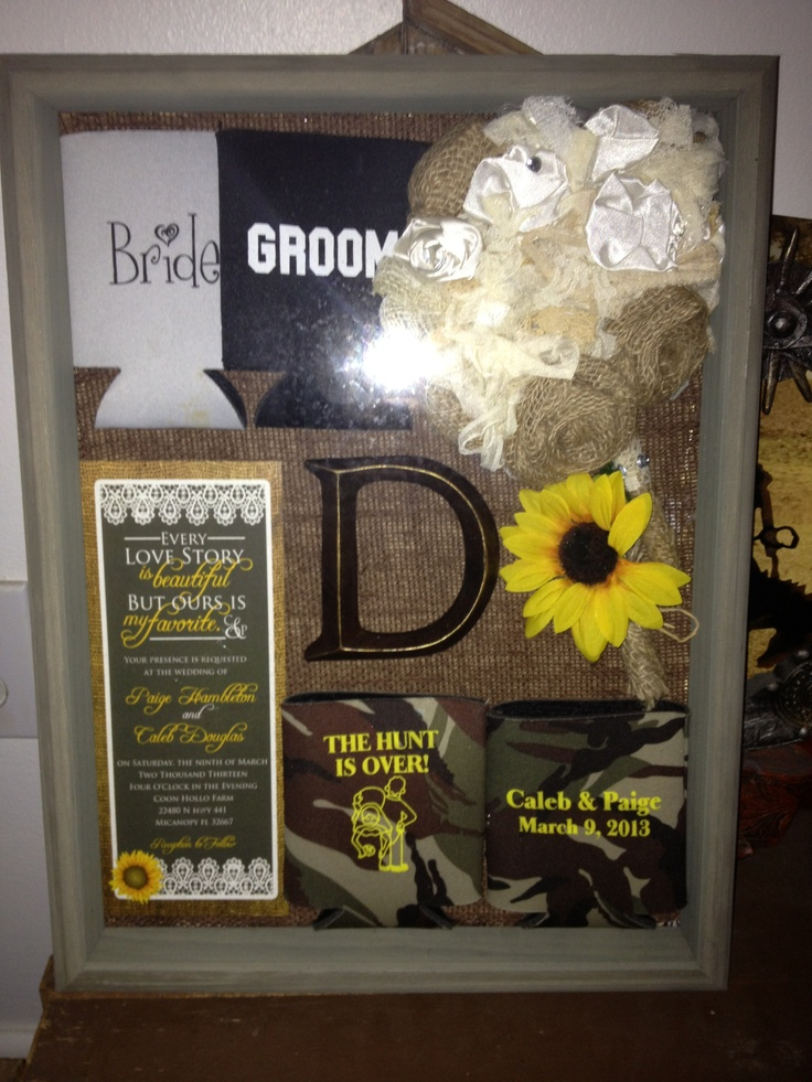 DIY wedding shadow box... Our Southern Vintage/ country