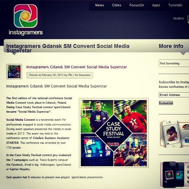 IgersGdansk on the homepage of Instagramers.com. Thank you @igers.me @Philippe Gonzalez #igersgdansk #igers #instagramers  (w: Instagramers Meeting Point)
