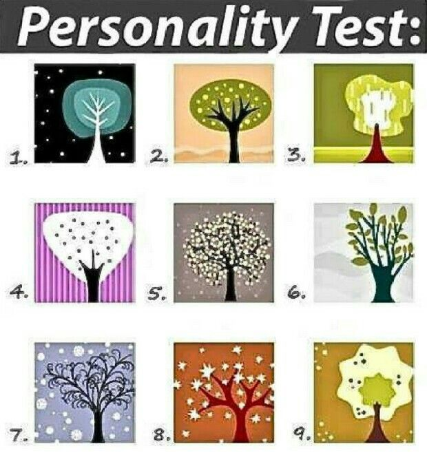 Pick the tree that stands out to you at first glance...  #3 for me