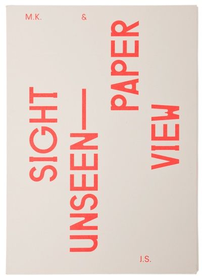 Sight Unseen — Raw Color