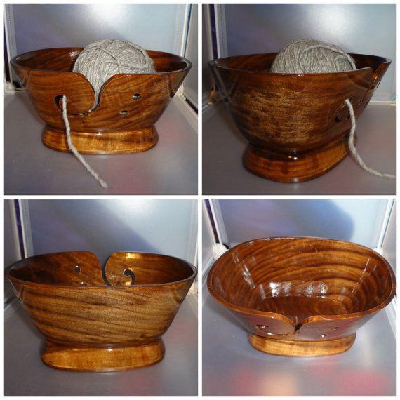 Knitting Bowls Wood : Yarn bowl hand crafted wood bowls