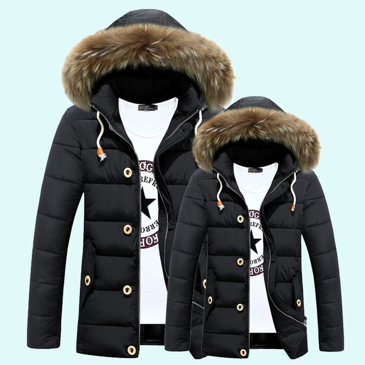 54.60$  Watch now - http://aliu7k.shopchina.info/go.php?t=32776336936 - Winter Jacket Men 2016 New Casual Mens Winter Parka With Fur Hood Thick Detachable Cap Long Middle-aged Men Warm Brand Clothing  #buyonline