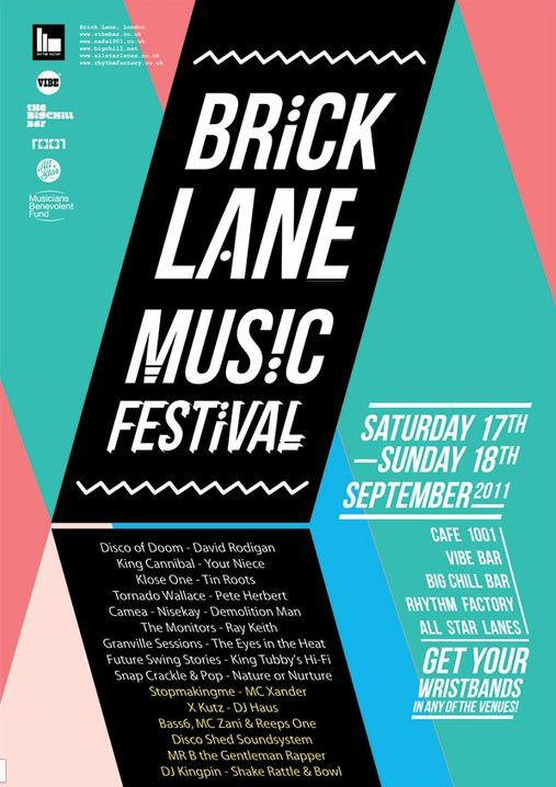 Brick Lane Music Festival Poster #layout #colour #type