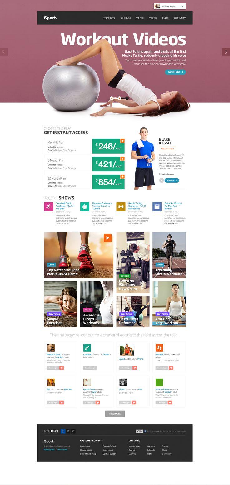 sport home #workout webdesign