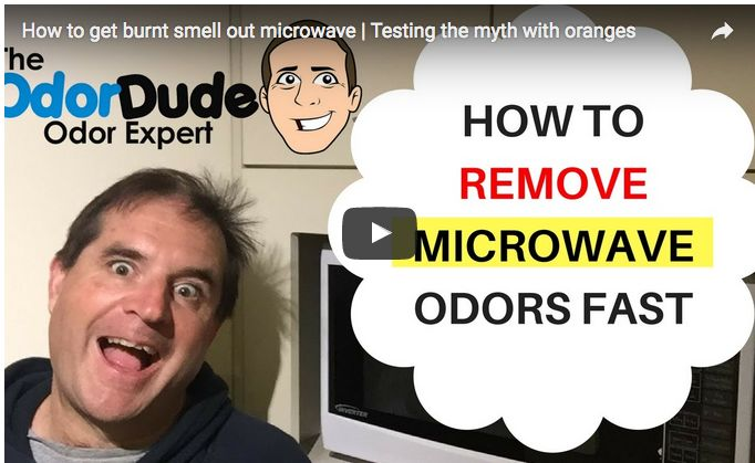 how to get rid of odors in microwave oven