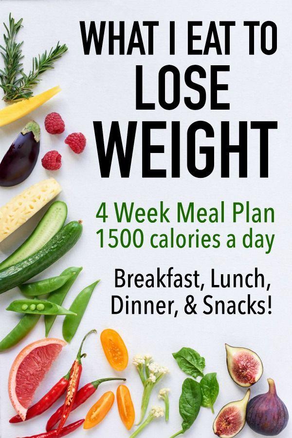 4 Week 1500 Calorie Healthy Meal Plan